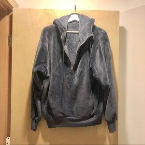 Express one eleven fleece sweatshirt